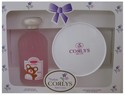 CORLYS SET PINK WITH TALCUM & COLOGNE